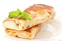 Pancakes stuffed with Royalty Free Stock Image