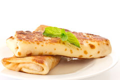 Pancakes stuffed with Royalty Free Stock Photography