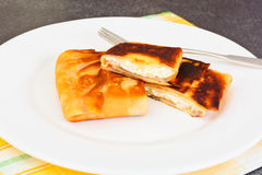 Pancakes Stuffed with Cottage Cheese Stock Photos