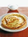 Pancakes with sugar Stock Photo