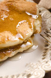 Pancakes with syrup Royalty Free Stock Photography