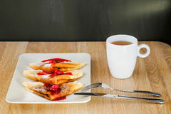 Pancakes with syrup Royalty Free Stock Photo