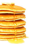 Pancakes with syrup and butter Royalty Free Stock Images