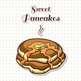 Pancakes With Syrup Stock Photography