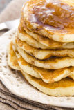 Pancakes with syrup Royalty Free Stock Photos