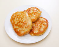 Pancakes taken Stock Photography