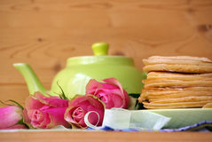 Pancakes for tea Royalty Free Stock Image