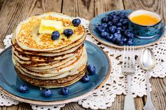 Pancakes for Thanksgiving dinner Stock Photography