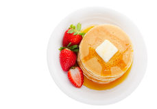 Pancakes top view Royalty Free Stock Image