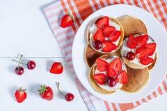 Pancakes traditional homemade American breakfast Stock Photo