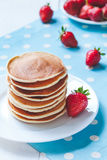 Pancakes traditional homemade sweet dessert with Royalty Free Stock Images