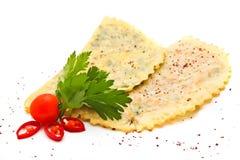 Pancakes on Ukrainian. With mushrooms Stock Photo