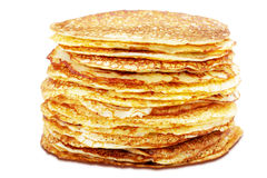 Pancakes on the white background Stock Photo