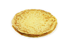 Pancakes on white plat Stock Images