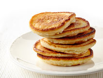 Pancakes on white plate Royalty Free Stock Photography