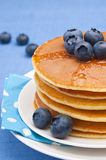 Pancakes With Blueberry Royalty Free Stock Images