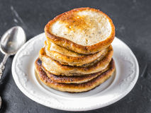 Pancakes With Chia Seeds Royalty Free Stock Images