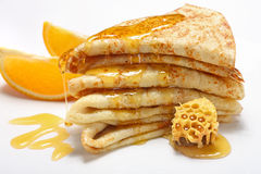 Free Pancakes With Honey Stock Images - 14293804