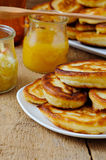Pancakes With Honey Royalty Free Stock Photography