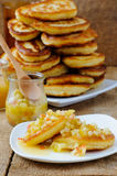 Pancakes With Honey Stock Photo