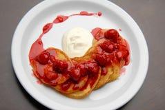 Pancakes With Jam Royalty Free Stock Image