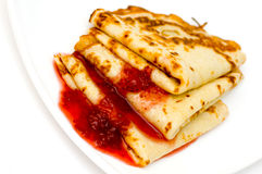 Free Pancakes With Strawberry Jam Stock Images - 1957324