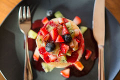 Pancakesfruit Immagine Stock Libera da Diritti