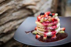 Pancakesfruit Immagini Stock Libere da Diritti