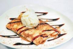 Pancakesn con helado foto de archivo libre de regalías