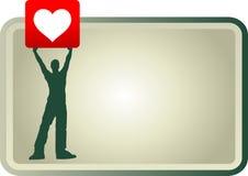 Pancarde do amor Foto de Stock