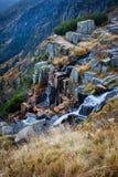 Pancava-Wasserfall in der Tschechischen Republik Lizenzfreie Stockfotografie