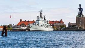 Pancernik PEDER SKRAM w Kopenhaga schronieniu Zdjęcie Stock