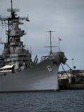 Pancernik USS Missouri przy pearl harbour Hawaje zdjęcia royalty free