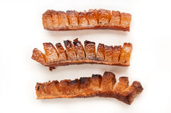 鲜美猪或猪肉panceta或者烟肉 免版税库存照片