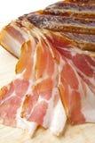 Pancetta affumicata Fotografia Stock Libera da Diritti