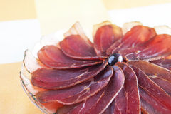 Pancetta affumicata Fotografie Stock