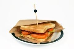 Pancetta affumicata BLT del panino. Fotografia Stock Libera da Diritti