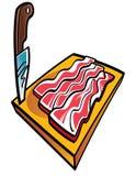 Pancetta affumicata e lama affettate Fotografia Stock Libera da Diritti