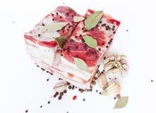 Pancetta affumicata e spezie Fotografia Stock Libera da Diritti