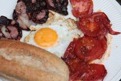 Pancetta affumicata ed uova Immagini Stock Libere da Diritti