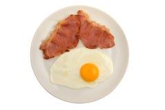 Pancetta affumicata ed uovo Immagini Stock Libere da Diritti