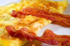 Pancetta affumicata Eggs1 immagini stock libere da diritti
