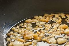 Pancetta affumicata fritta Immagini Stock Libere da Diritti