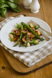 Pancetta with asparagus Royalty Free Stock Photos