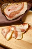 Pancetta, italian bacon Royalty Free Stock Photography