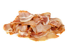Pancetta Sliced Isolated Side view Stock Images