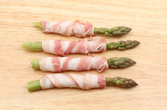 Pancetta wrapped asparagus Royalty Free Stock Image