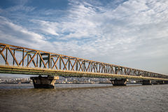 Pancevo bridge in Belgrade Stock Image