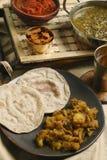 Panch Pooran Tarkaari - mezcla vegetal cinco indios. Imagen de archivo