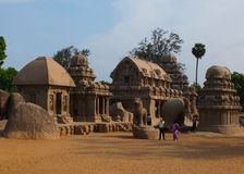 Panch Rathas, Mahabalipuram, India Stock Image